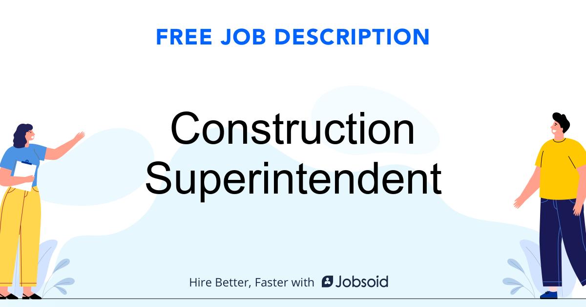 Construction Superintendent Job Description - Image
