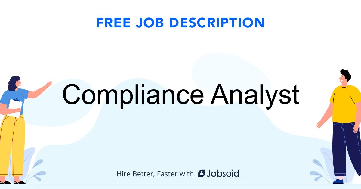 Compliance Analyst Job Description - Image
