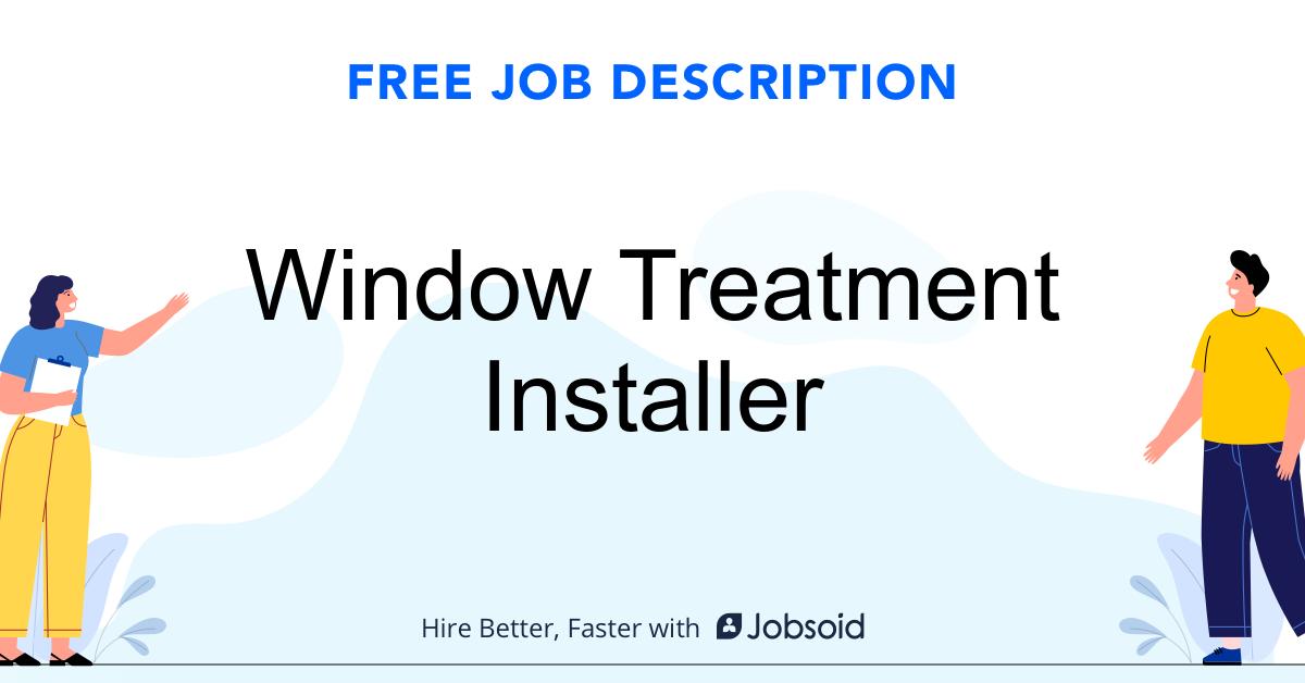 Window Treatment Installer Job Description - Image