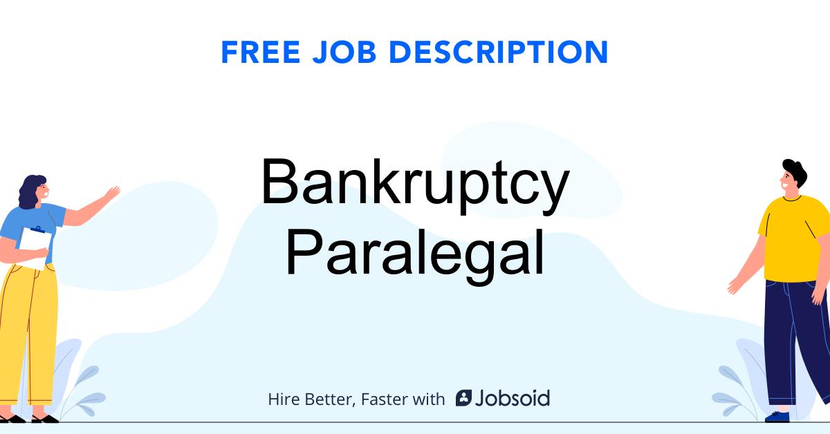 Bankruptcy Paralegal Job Description - Image