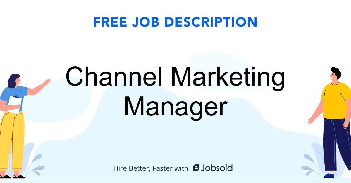 Channel Marketing Manager Job Description - Image