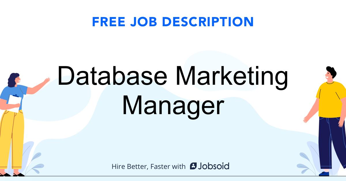 Database Marketing Manager Job Description - Image