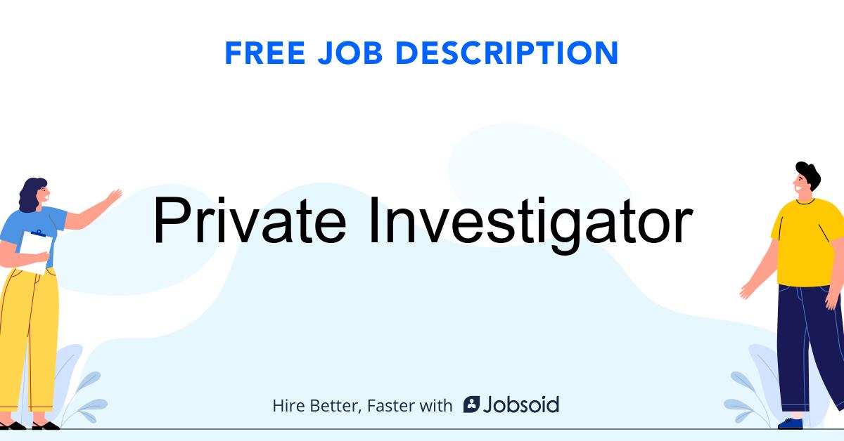 Private Investigator Job Description - Image