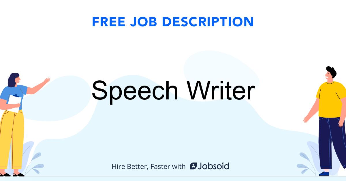 Speech Writer Job Description - Image