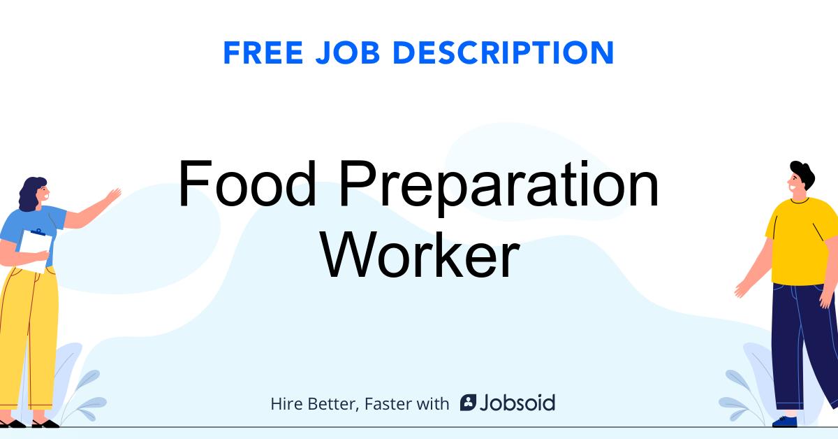 Food Preparation Worker Job Description - Image