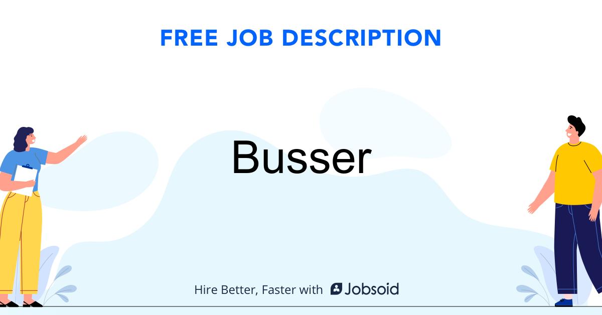 Busser Job Description - Image