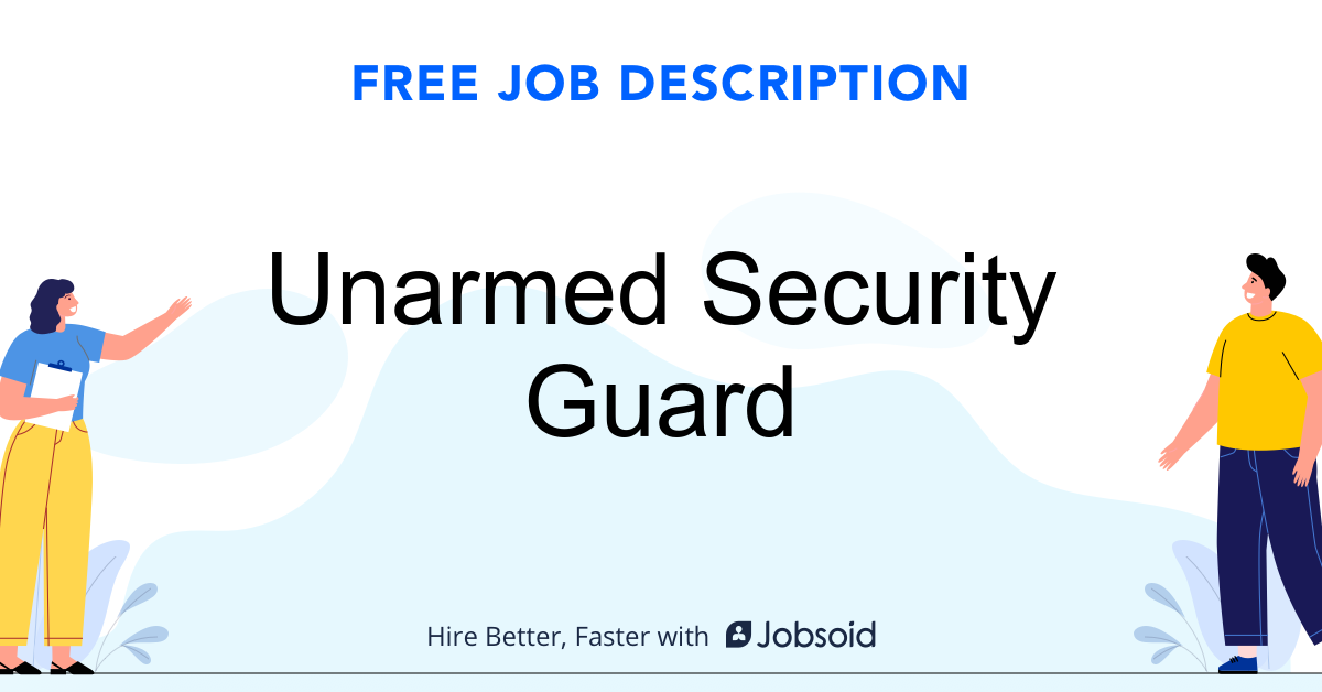 Unarmed Security Guard Job Description - Image