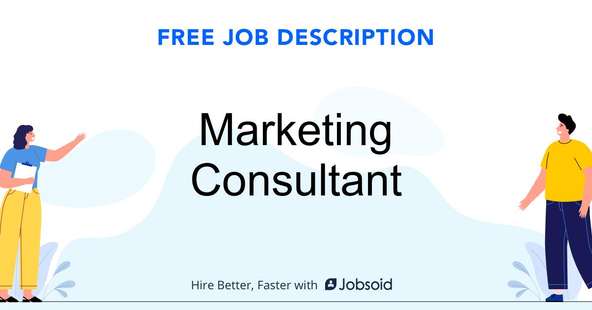 Marketing Consultant Job Description - Image
