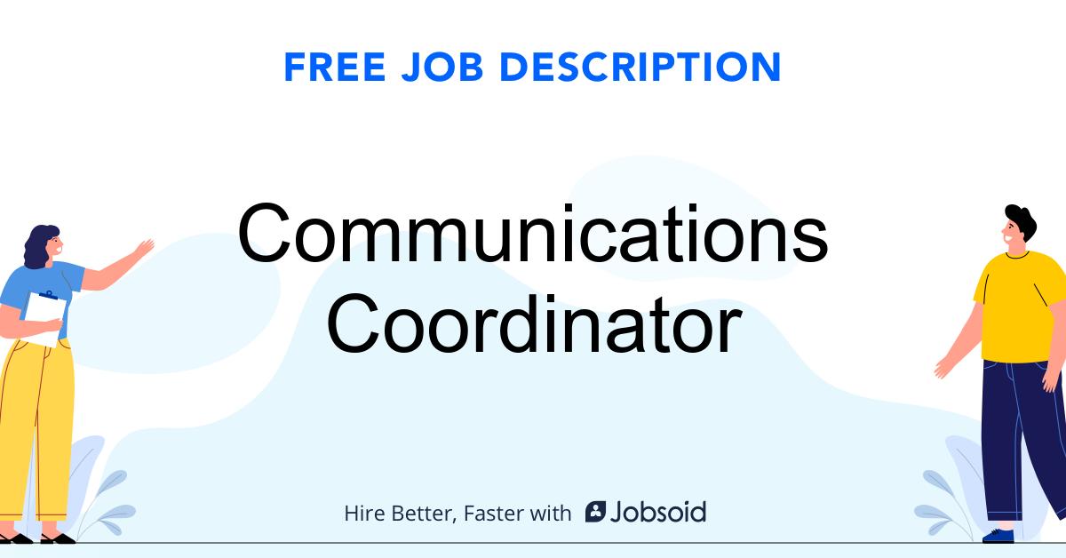 Communications Coordinator Job Description - Image