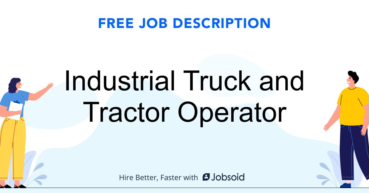Industrial Truck and Tractor Operator Job Description - Image
