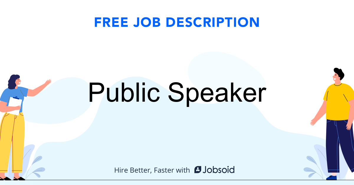 Public Speaker Job Description - Image