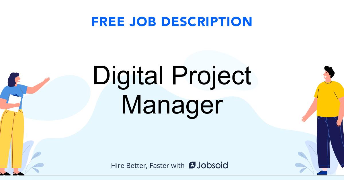 Digital Project Manager Job Description - Image