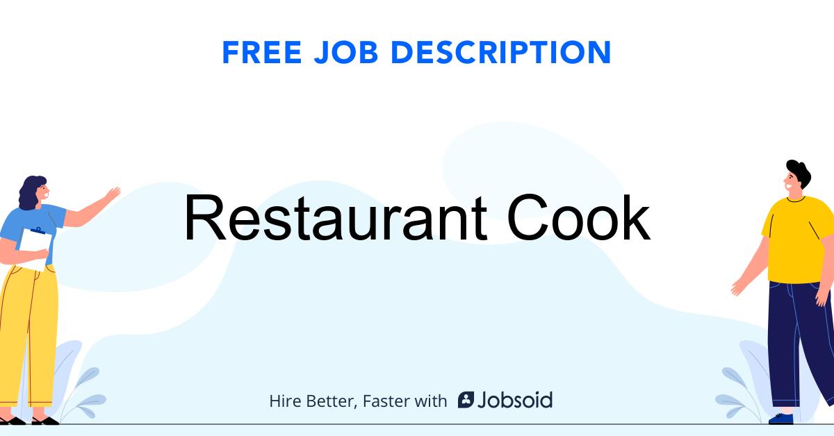Restaurant Cook Job Description - Image