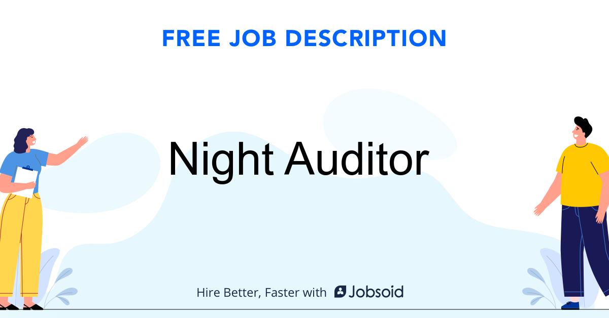 Night Auditor Job Description - Image