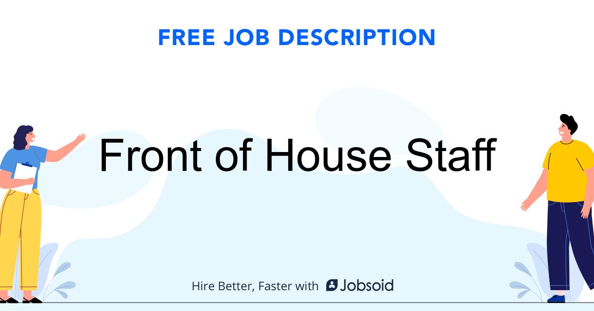 Front of House Staff Job Description - Image