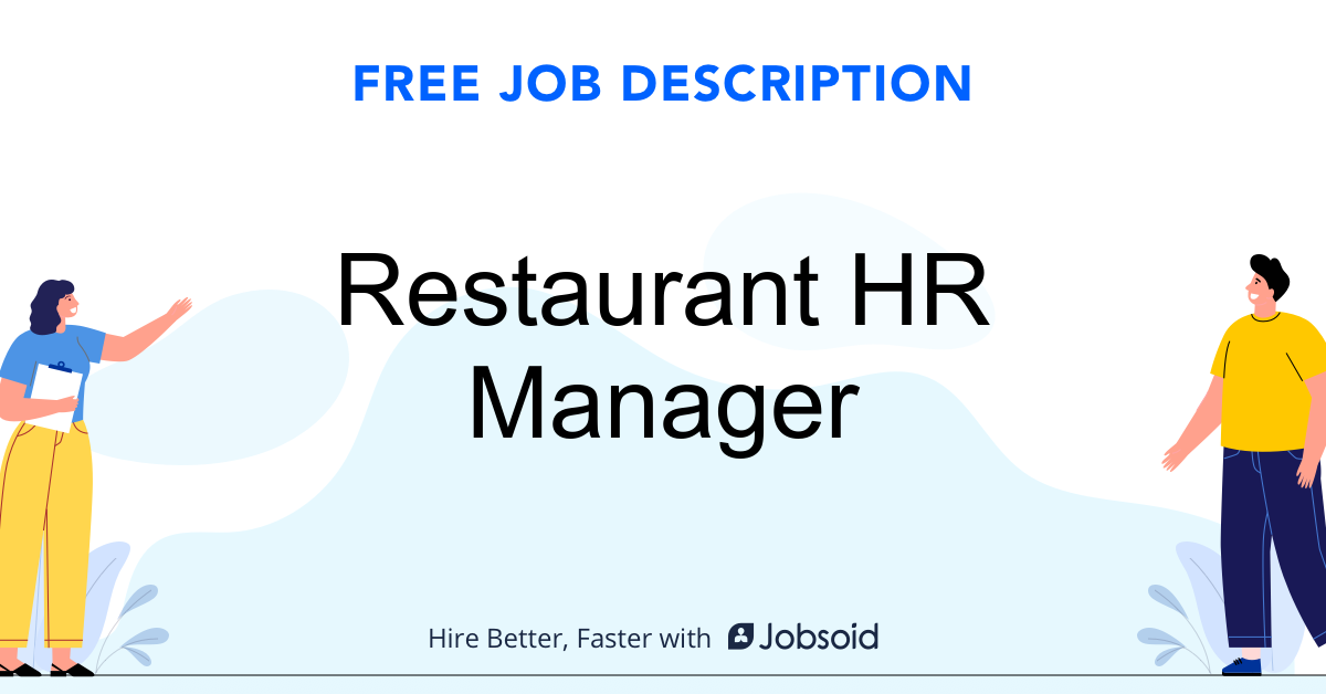 Restaurant HR Manager Job Description - Image