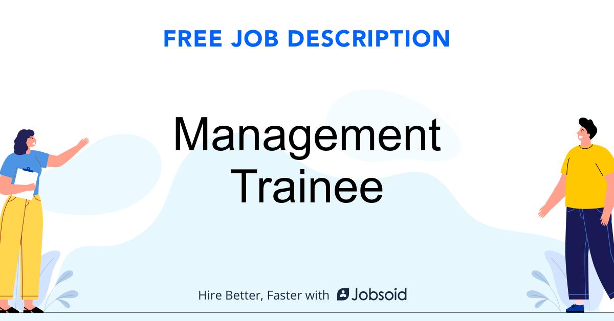 Management Trainee Job Description - Image