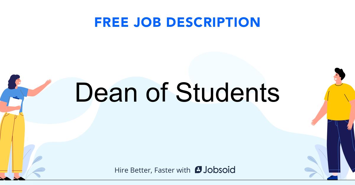 Dean of Students Job Description - Image