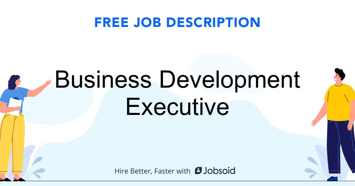 Business Development Executive Job Description - Image