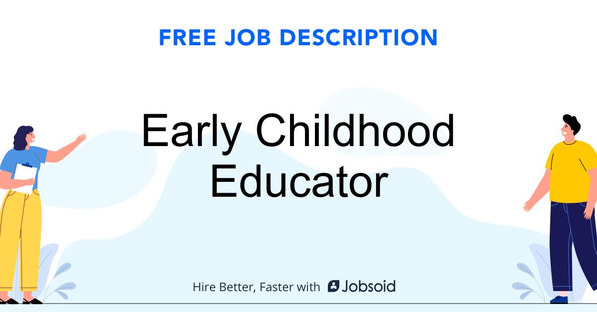 Early Childhood Educator Job Description - Image