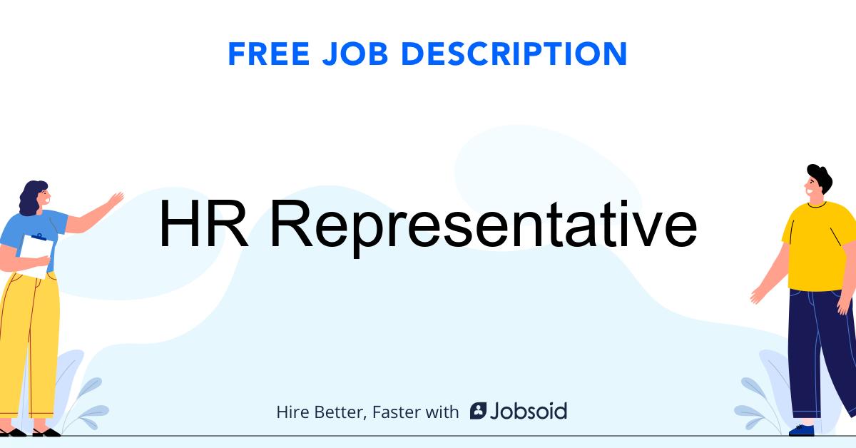 HR Representative Job Description - Image