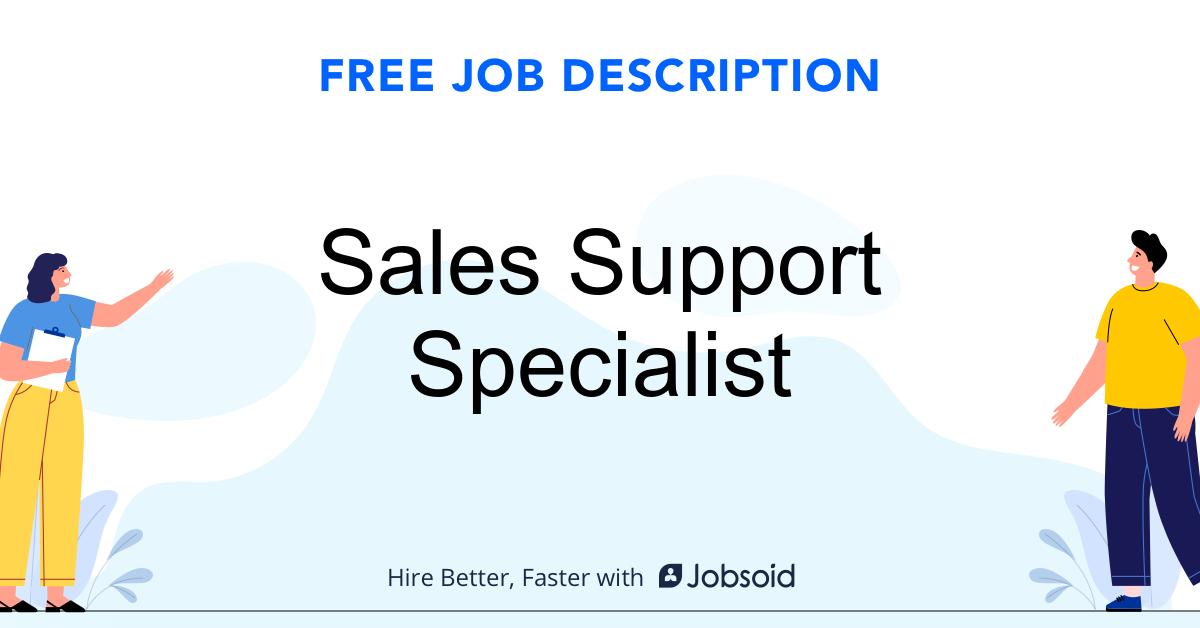 Sales Support Specialist Job Description - Image