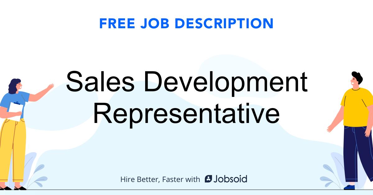 Sales Development Representative Job Description - Image