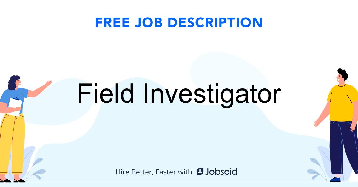 Field Investigator Job Description - Image