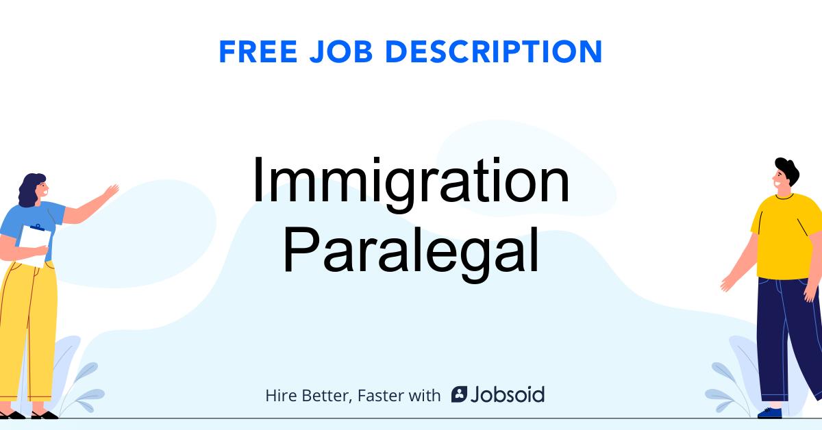 Immigration Paralegal Job Description - Image