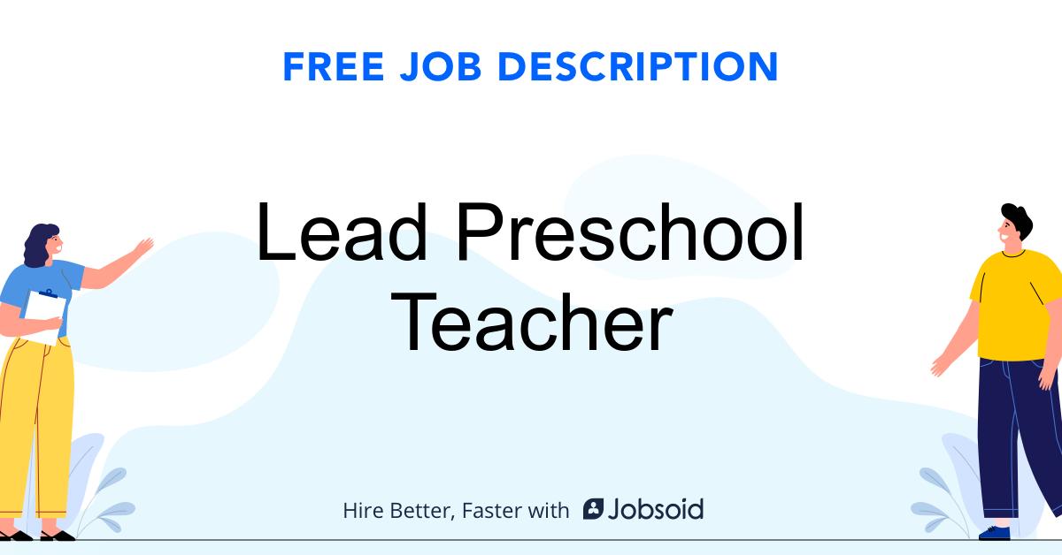 Lead Preschool Teacher Job Description - Image