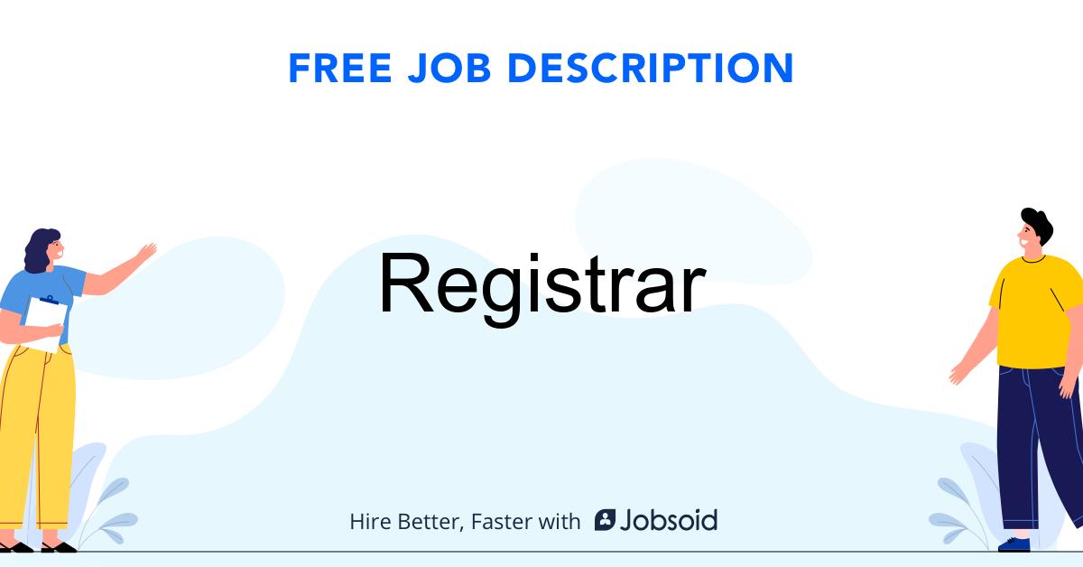 Registrar Job Description - Image