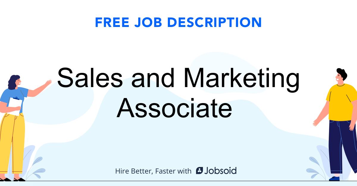 Sales and Marketing Associate Job Description - Image