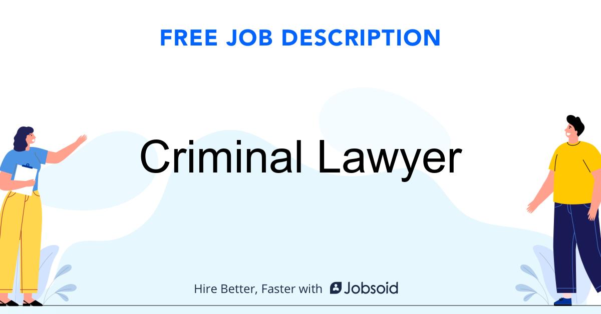 Criminal Lawyer Job Description - Image