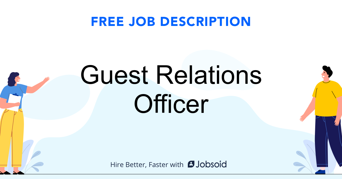 Guest Relations Officer Job Description - Image