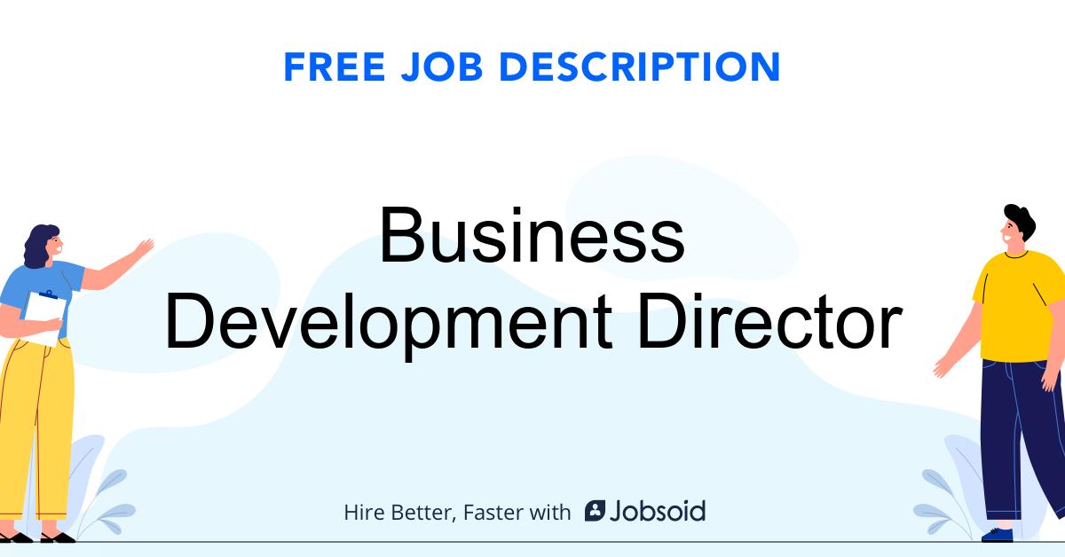 Business Development Director Job Description - Image