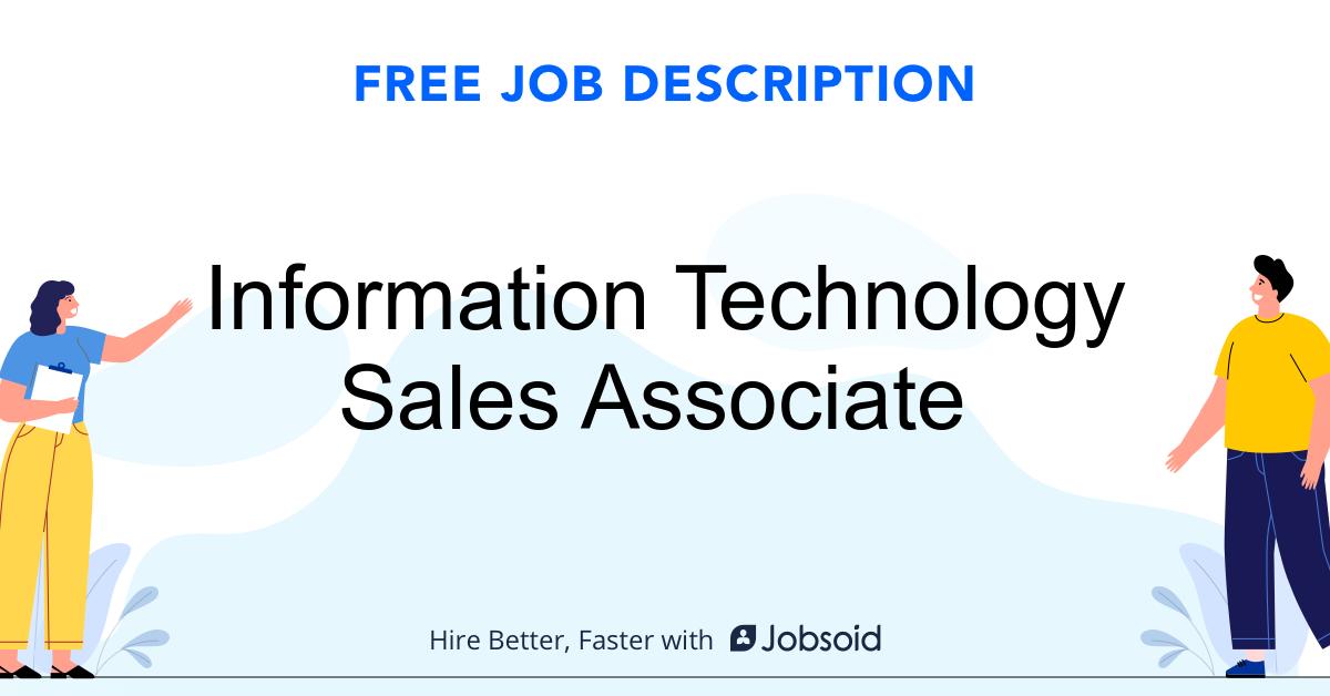 Information Technology Sales Associate  Job Description - Image
