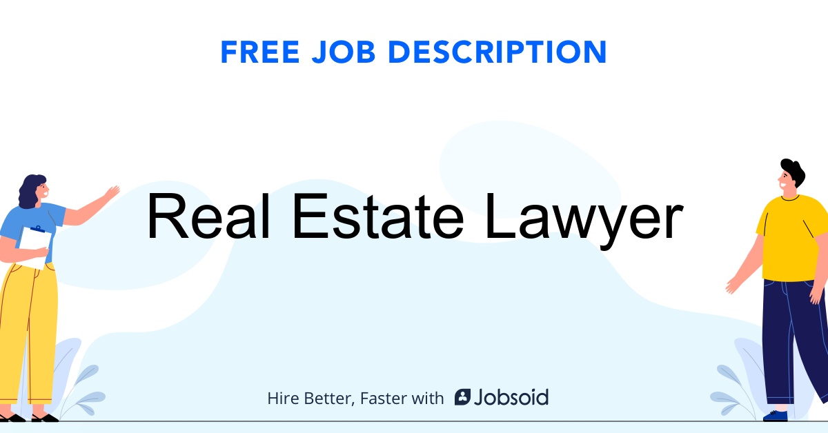 Real Estate Lawyer Job Description - Image