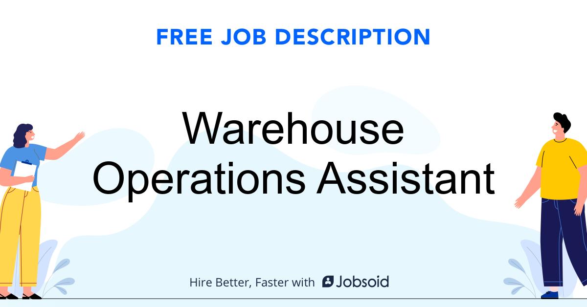 Warehouse Operations Assistant Job Description - Image