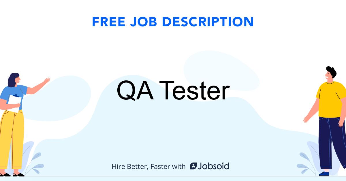 QA Tester Job Description - Image