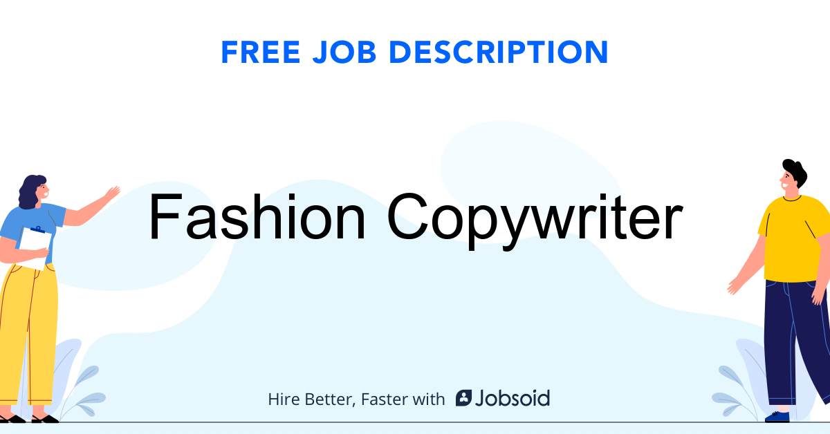 Fashion Copywriter Job Description - Image