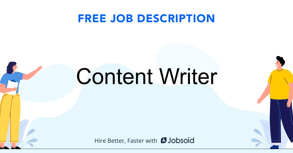 Content Writer Job Description - Image