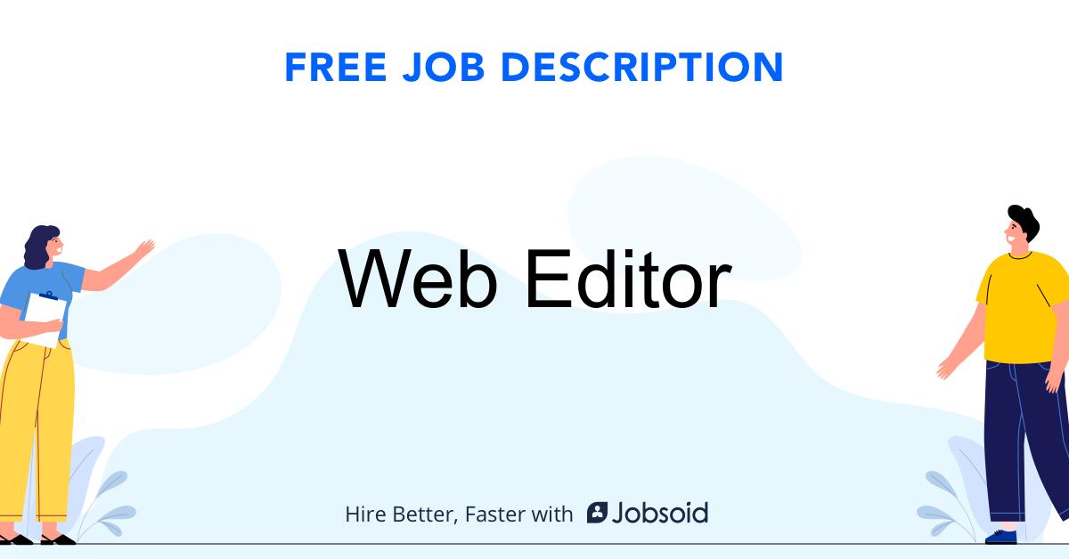 Web Editor Job Description - Image