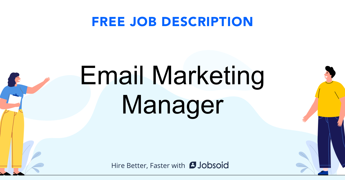 Email Marketing Manager Job Description - Image