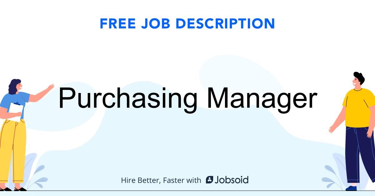 Purchasing Manager Job Description - Image