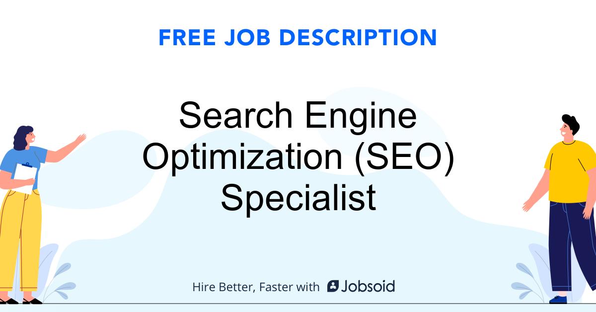 Search Engine Optimization (SEO) Specialist Job Description - Image