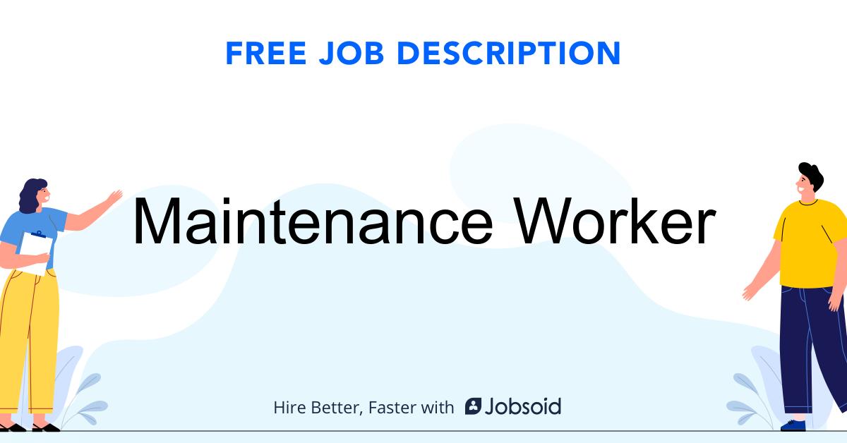 Maintenance Worker Job Description - Image