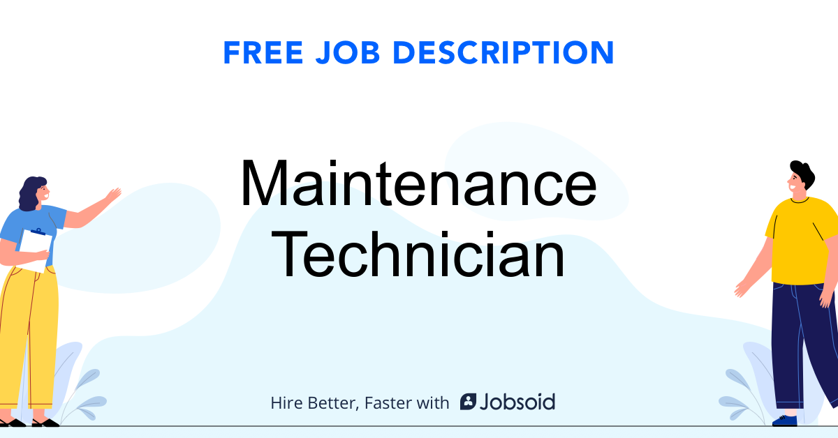 Maintenance Technician Job Description - Image