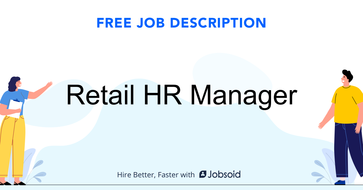 Retail HR Manager Job Description - Image