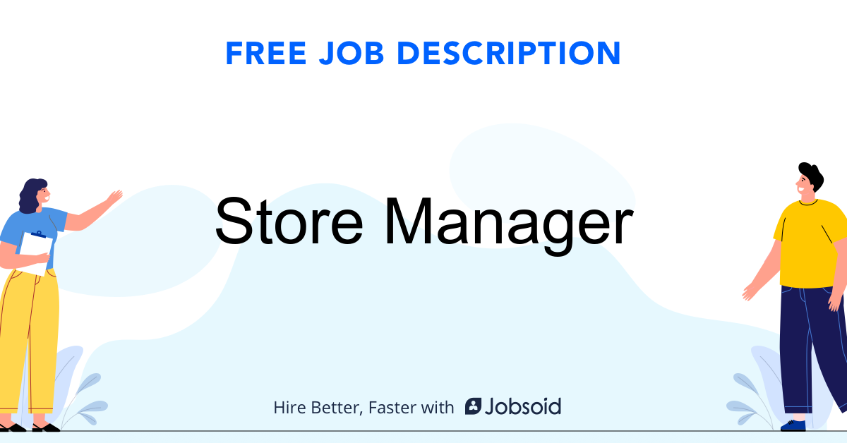 Store Manager Job Description - Image