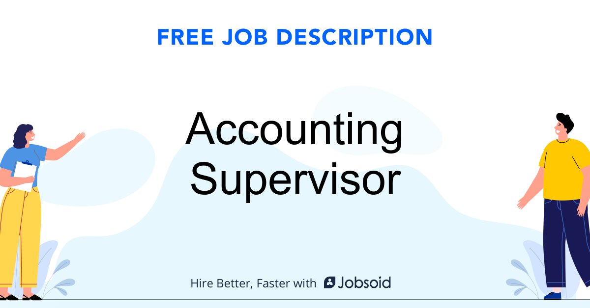 Accounting Supervisor Job Description - Image